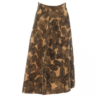 Saint Laurent Brown Cotton Skirts