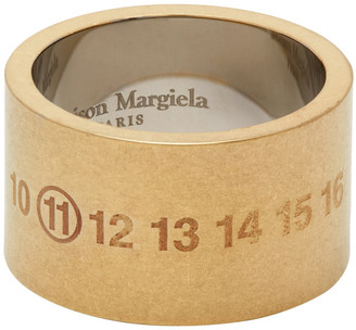 Maison Margiela Gold Chunky Numbers Ring
