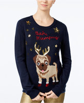 Almost Famous Juniors' Bah Humpug Holiday Sweater