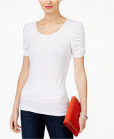 INC International Concepts Ruched-Sleeve Top, Only at Macy's