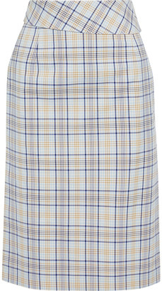 Baum und Pferdgarten Susy Checked Cotton-blend Jacquard Skirt