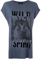 Diesel 'wild spirit' print T-shirt - women - Linen/Flax/Lyocell - XXS