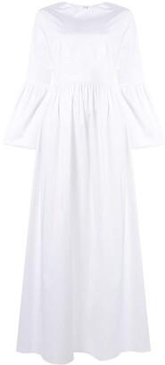 The Row flute sleeve maxi dress