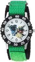 Disney Boy's 'Puppy Dog' Quartz Stainless Steel and Nylon Casual Watch