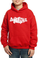 LOS ANGELES POP ART Los Angeles Pop Art Created Out Of The Words Gone Fishing Hoodie-Big Kid Boys