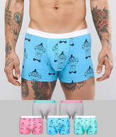 Asos Trunks With Swearing Gnomes 5 Pack