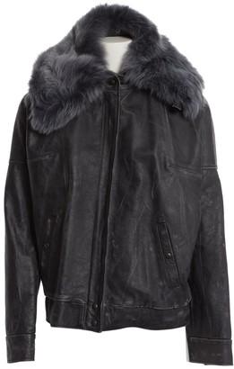 Maison Margiela Grey Leather Jackets