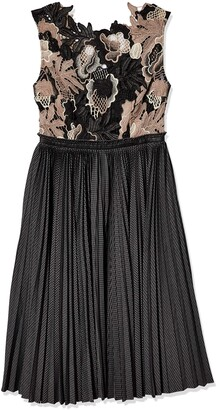 Tracy Reese Women's Lace Bodice Dress Grey/Black 8