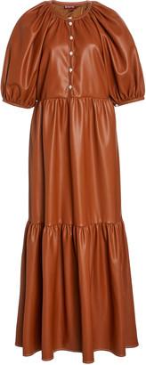 STAUD Demi Vegan Leather Maxi Dress