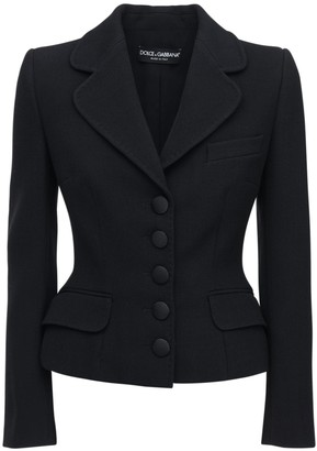 Dolce & Gabbana Slim Stretch Wool Blend Blazer