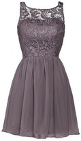 Aokaixin Womens Sleeveless Short Prom Party Dresses Lace Top Bridesmaid Dress Grey US