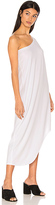 Bobi Modal Jersey One Shoulder Maxi Dress in White. - size S (also in XS)