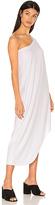 Bobi Modal Jersey One Shoulder Maxi Dress in White