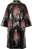 Miu Miu Oversized Sequin-embellished Faux Patent-leather Coat - IT40