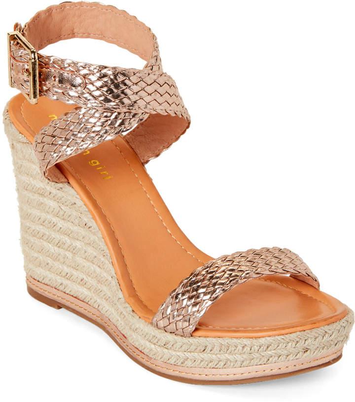 2b6a77a74fe Rose Gold Narla Espadrille Platform Wedge Sandals
