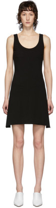 Helmut Lang Black Ponte Tank Dress