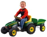 John Deere Peg Perego Farm Tractor with Trailer