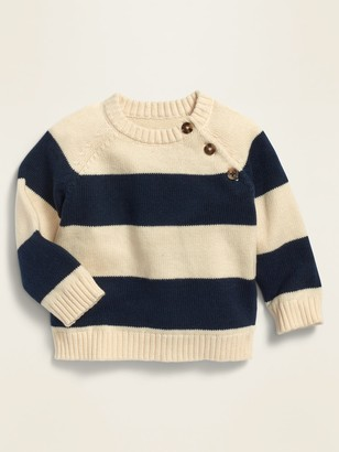 Old Navy Unisex Rugby-Stripe Raglan Pullover Sweater for Baby