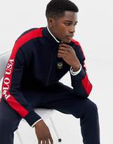Polo Ralph Lauren track wacket with sleeve logo and badging in navy