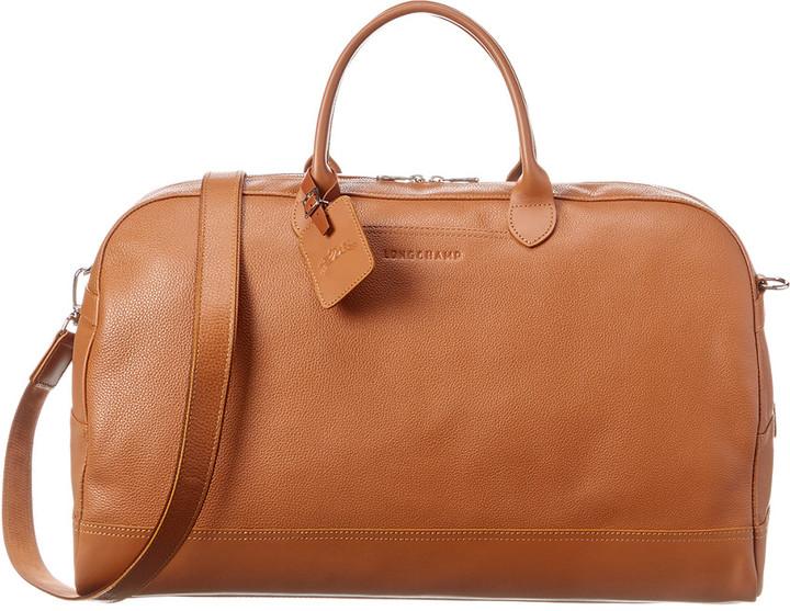 Longchamp Le Foulonne Large Leather Duffel Bag