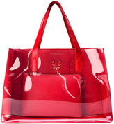 Charlotte Olympia Feline transparent panel tote - women - Leather - One Size