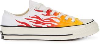 Converse Lucky Star Flame-print Canvas Sneakers