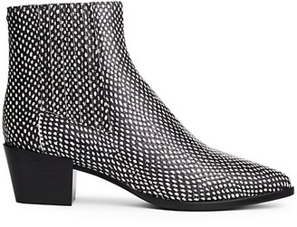 Rag & Bone Rover Snakeskin-Embossed Leather Ankle Boots