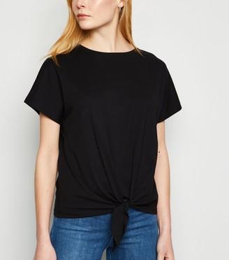New Look Jersey Tie Front T-Shirt