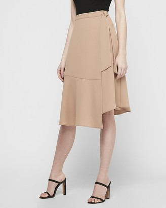 Express High Waisted Wrap Front Tie Pencil Skirt