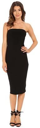 KAMALIKULTURE by Norma Kamali Strapless Dress (Black) Women's Dress