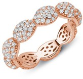Lafonn Rose Gold Plated Sterling Silver Simulated Diamond Micro Pave RFG Signature Dot Band