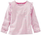 Osh Kosh Toddler Girl Striped Flutter Long Sleeve Top
