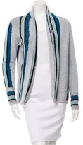 Baja East Striped Open Front Cardigan