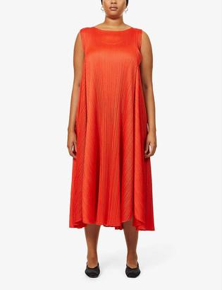 Pleats Please Issey Miyake Giocoso Panel pleated midi dress