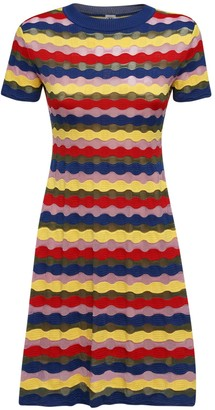 M Missoni Multicolor Knit Mini Dress