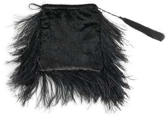 ATTICO Feather & Velvet Pouch
