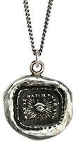 Pyrrha Unisex 925 Sterling Silver all Seeing Eye Talisman Necklace