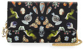 Alexander McQueen Butterfly Chain Crossbody Bag, Black/Multi