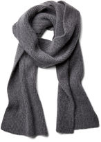 Portolano Men's Solid Scarf, Dark Heather Gray