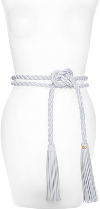Valentino The Rope Braided Leather Belt
