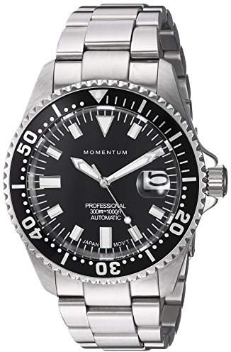 Momentum Men's Japanese Automatic Stainless Steel Diving Watch
