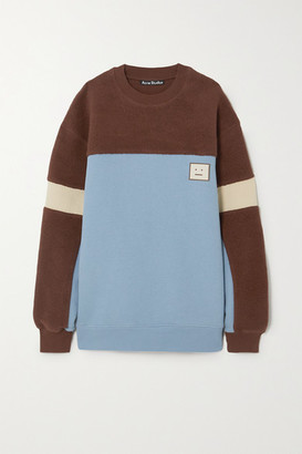 Acne Studios Paneled Cotton-jersey And Fleece Sweatshirt