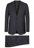 Armani Collezioni M-line Charcoal Checked Wool Suit