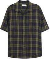 Vince Checked Linen Shirt