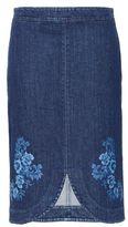 Stella McCartney denim threadwork skirt