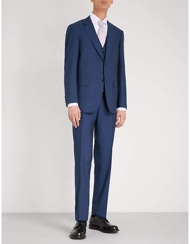 Canali Impeccabile tailored-fit super 140s wool suit