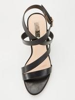 Office Maroon Heeled Sandal - Black