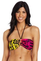 TYR Women's Mojave Tie Dye Favorite Bandeau Bra With Removable Power Pads