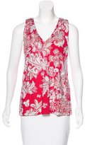 Etro Sleeveless Abstract Print Top