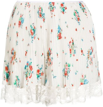 Paco Rabanne Floral Pleated Skirt
